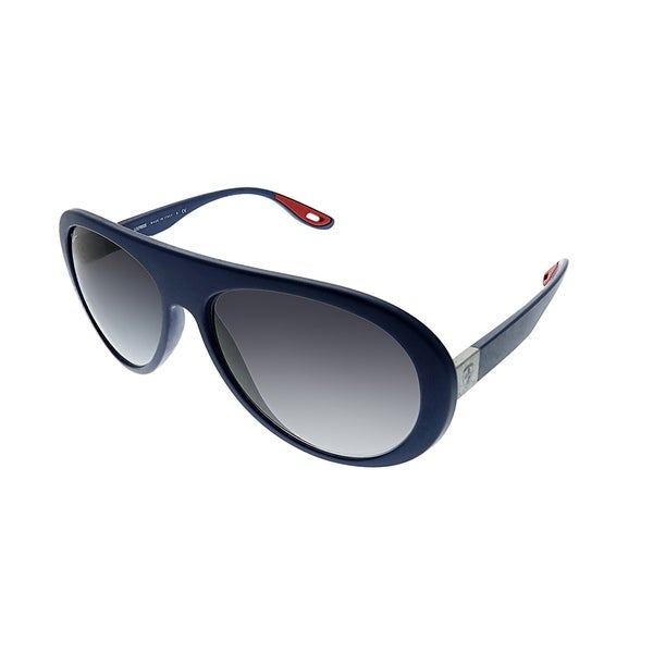 bc56df9231f Ray-Ban Aviator RB 4310M Scuderia Ferrari Collection F6048G Unisex Matte  Blue Frame Grey Gradient