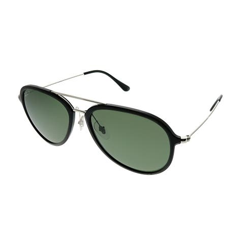 Ray-Ban Aviator RB 4298 601/9A Unisex Black Frame Green Polarized Lens Sunglasses