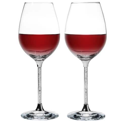 Crystal Wine Glasses Set 18.5 oz Lead-Free Crystal Sparkling Wine Wedding Glass