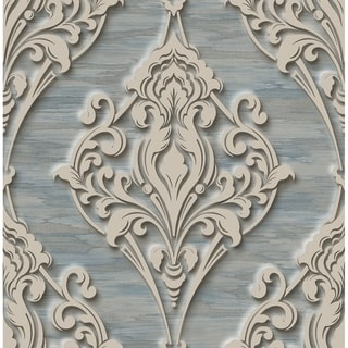 Ornate Ogee Wallpaper with Glitter