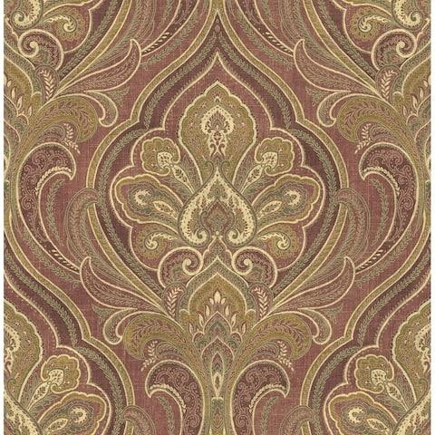 Elaborate Paisley Wallpaper - 20.5 in x 32 ft = 56 sq ft