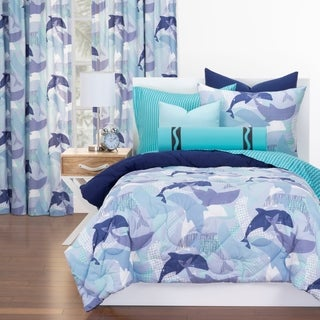 Crayola Life's Porpoise Reversible Comforter Set In Blue