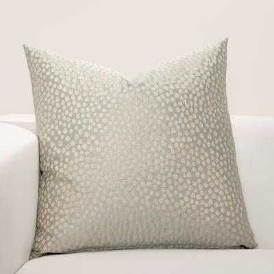 F Scott Fitzgerald Blue Fizz Accent Throw Pillow