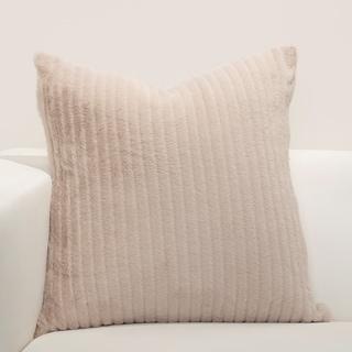 F Scott Fitzgerald Arm In Arm Faux-Fur Toss Pillow