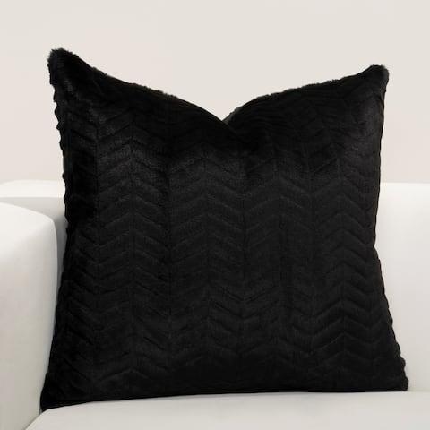 F Scott Fitzgerald Black Faux-Fur High Kicks Accent Throw Pillow