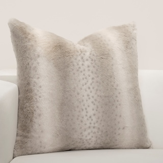F Scott Fitzgerald Faux-Fur Night On The Town Accent Throw Pillow