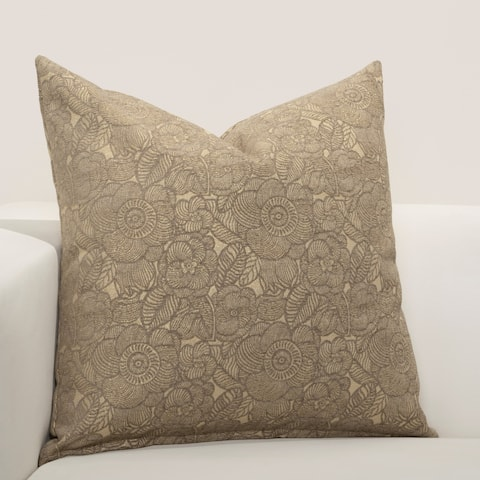 F Scott Fitzgerald Garden Party Bronze Accent Throw Pillow