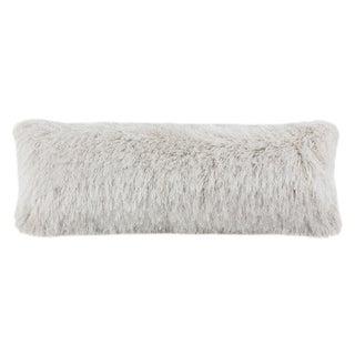 Safavieh Shag Modish Metallic Pillow -Metallic Snow
