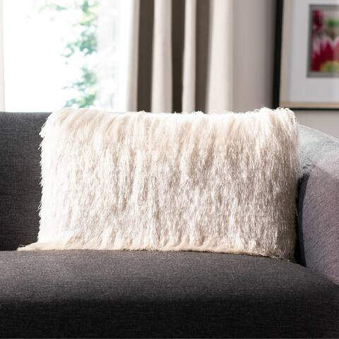 Safavieh Chic Shag Decorative Pillow -Ivory