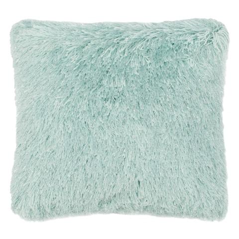 Safavieh Shag Modish Metallic Decorative Pillow -Light Blue