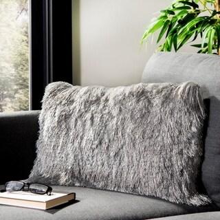 Safavieh Chic Shag Pillow -Silver