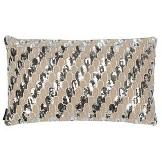 Safavieh Angeline Decorative Pillow -Beige/Silver