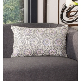 The Curated Nomad Miraloma Beaded Oblong Decorative Pillow