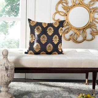 Safavieh Loren Decorative Pillow -Black/Gold