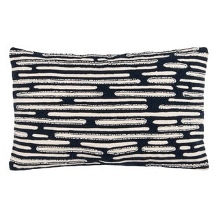 Safavieh Trina Decorative Pillow -Navy/White
