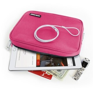 Safe InSide Locking Privacy Pouch w/Steel Tether Cable - Pink