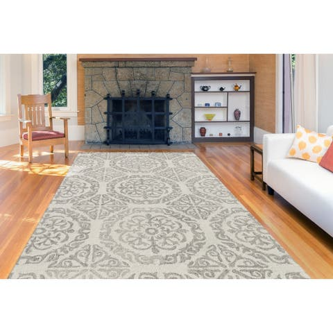 Collingwood Transitional Ivory Hand-Tufted Area Rug - 8' x 11'