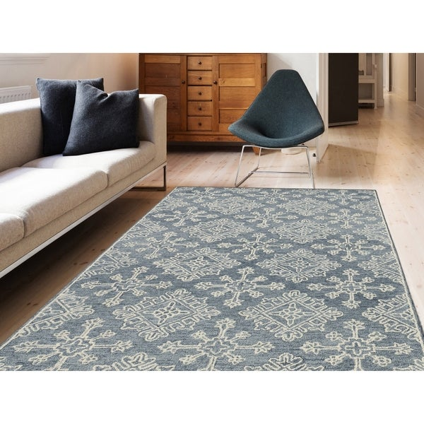 """Collingwood Transitional Gray Hand-Tufted Area Rug - 5' x 7'6"""""""
