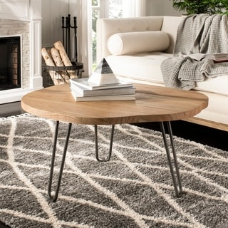 "Safavieh Dale Free Edge Coffee Table -Weathered/Oak - 35.4"" x 35.4"" x 17.7"""