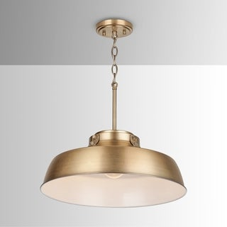 Link to 1-light Aged Brass Pendant Fixture - Aged Brass - Aged Brass Similar Items in Pendant Lights