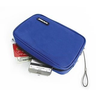 Safe Inside Locking Privacy Pouch w/Steel Tether Cable - Blue