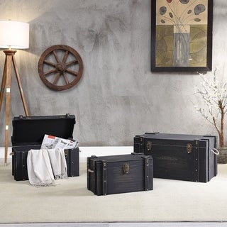 MDF and Fir Storage Trunks (Set of 3)
