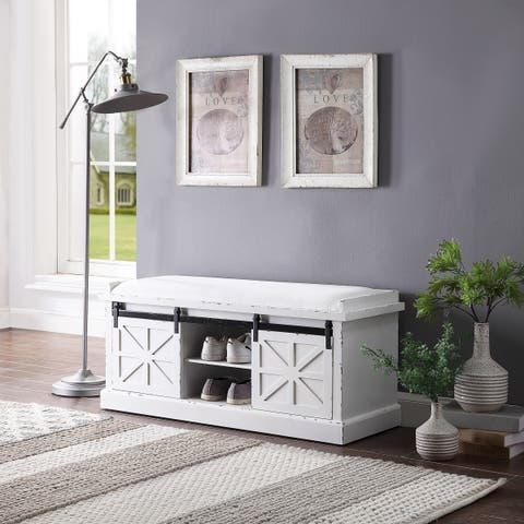 Buy Storage Benches White Online At Overstock Our Best