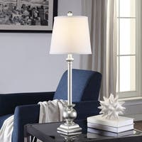 Margate Silver 29.5-inch Resin Tapered Drum Buffet Lamp
