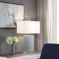 Penngrove Blue and Clear Rectangle Table Lamp