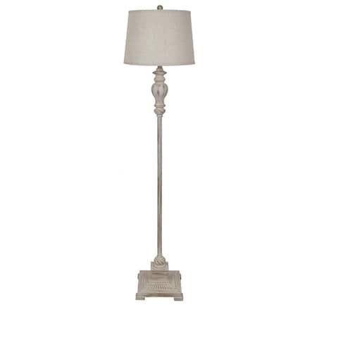Ollerton Brown 62.5-inch Tapered Drum Floor Lamp