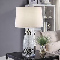 Allendale Black and Clear Tapered Drum Table Lamp
