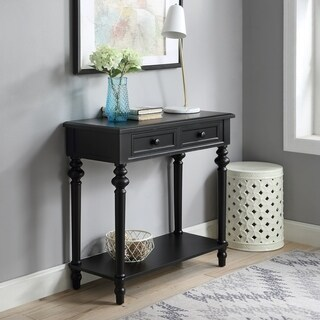 2-drawer Console Table with Turned Legs