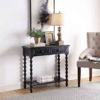 2-drawer  Beaded Legs End Table