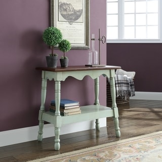 Wilton Green 1-shelf Side Table with Turned Legs