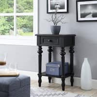 1-drawer End Table with Turned Legs