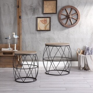 Ripley Natural and Rustic Tables (Set of 2)