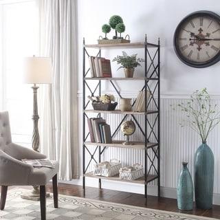 Alford Natural and Black 5-shelf Etagere