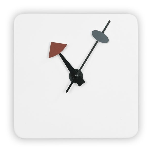 LeisureMod Manchester White Square Silent Non-Ticking Wall Clock