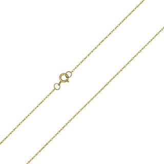 10K Yellow Gold .5MM Shiny Carded Rope Chain with Spring Ring Clasp - 16 Inch