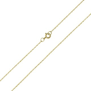 10K Yellow Gold 3MM Shiny Carded Rope Chain With Spring Ring Clasp 16 Inch