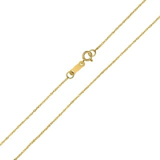 10K Yellow Gold 0.8MM Singapore Chain with Spring Ring Clasp - 16 Inch