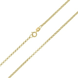 10K Yellow Gold 1 9mm Classic Rolo Chain With Spring Ring Clasp 20 Inch