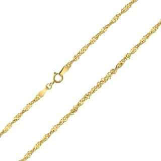 10K Yellow Gold 2 2mm Singapore Chain With Spring Ring Clasp 30 Inch