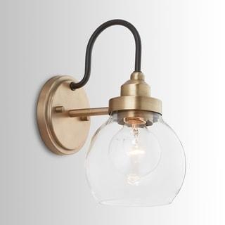 Copper Grove Sevlievo 1-light Aged Brass and Black Wall Sconce