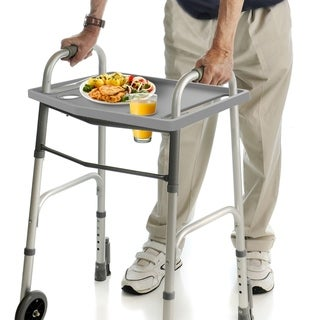 Walker Tray- Upright with 2 Cup Holders-Universal Table-Home Mobility Medical Equipment Accessories by Bluestone - N/A - N/A