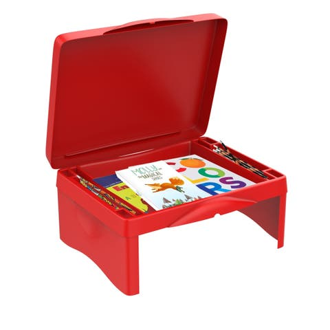 Lap Desk for Kids-Folding Collapsible Portable Table with Storage-Kids Activity Tray for Writing, Crafts, Art by Hey! Play!