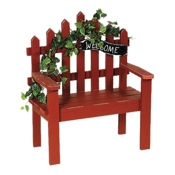 Shop Primitive Large Wooden Decorative Picket Bench With