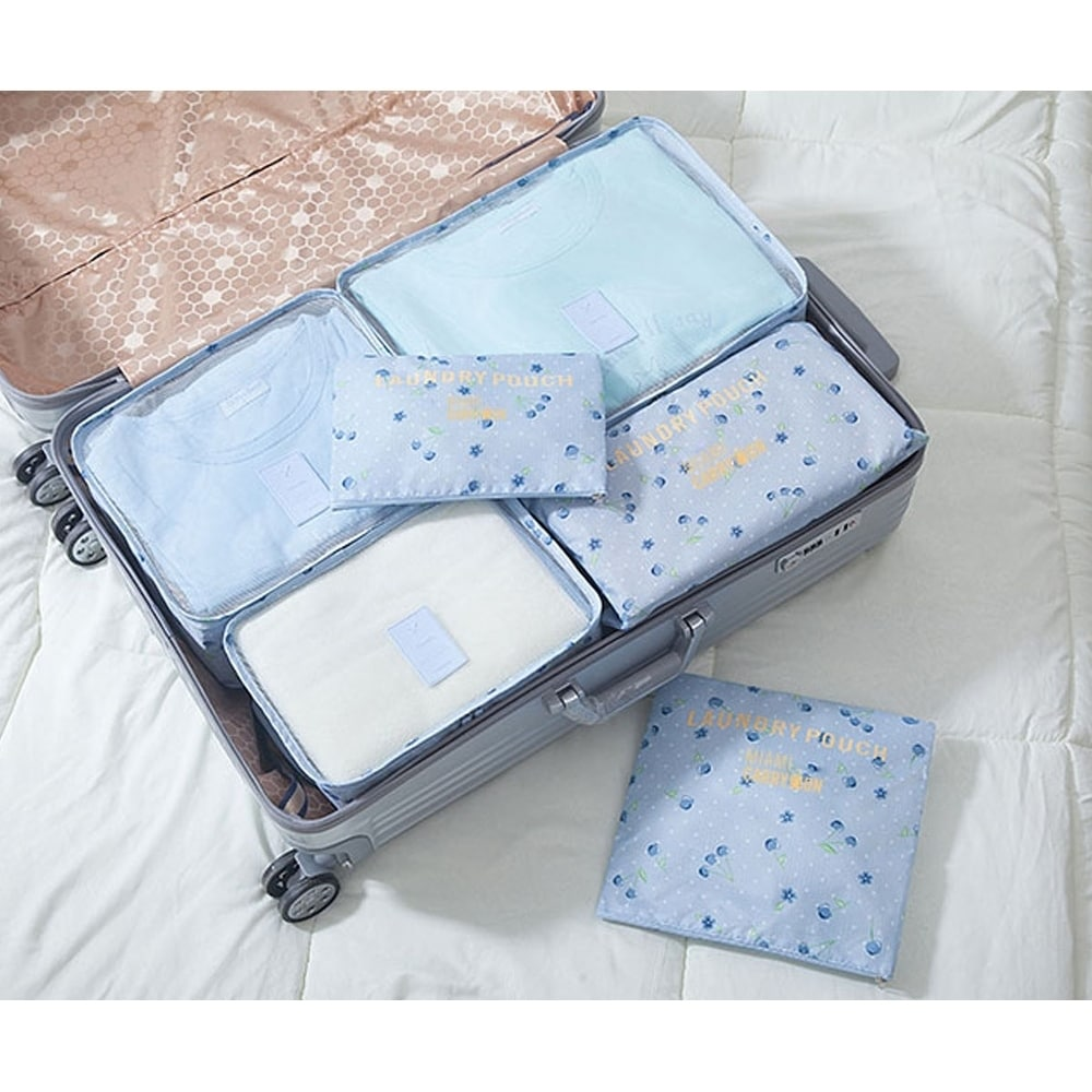 Quality Thick 5Pcs Luggage Organiser Suitcase Packing Cubes Travel Pouches Bags