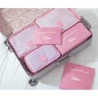 Miami CarryOn Set of 6 Packing Cubes, Travelers Luggage Organizer
