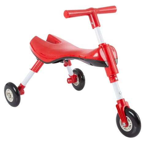 Glide Tricycle- Trike Ride On Toy, Foldable Design, Indoor Outdoor Wheels for Toddlers Learning to Walk, Balance by Lil' Rider